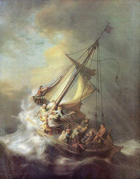 Rembrandt, Harmenszoon van Rijn. Tempestad en el mar de Galilea (1633)