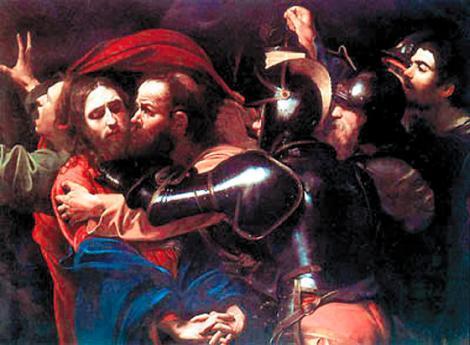 Michelangelo Merisi, Caravaggio, El beso de Judas (o El Prendimiento de Cristo)