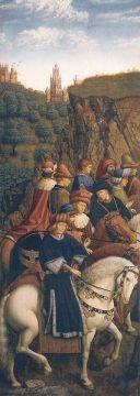 Van Eyck. Los Jueces Justos. Panel del Políptico de Gante