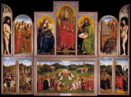 Van Eyck, Políptico de la Adoración del Cordero Místico (1432)