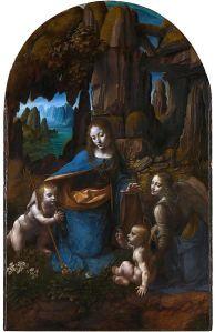 Leonardo. La Virgen de las Rocas (versión de Londres). Posterior a 1508.