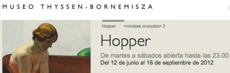 Hopper. Museo Thyssen.
