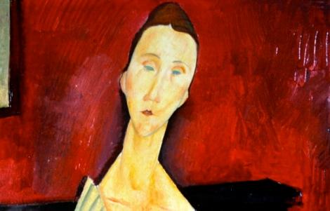 Modigliani, Mujer con abanico (1919)