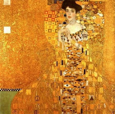 Klimt. Adele Bloch Bauer I (1907) © Österreichische Galerie Belvedere, Vienna