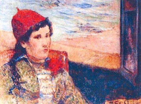 Gauguin, Mujer ante una ventana abierta (1898)
