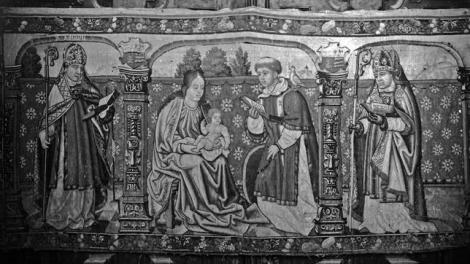 Imagen del tapiz de la Catedral de Rosa de Isábena. Archivo Mas.