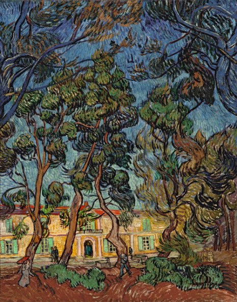 Vincent Van Gogh, El hospital de Saint-Rémy (1889). The Armand Hammer Collection. Donación de la Armand Hammer Foundation, Los Ángeles.