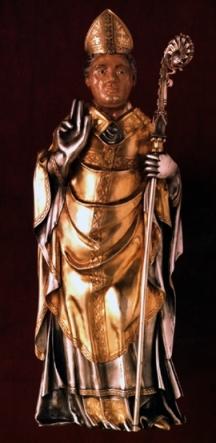 San Martiriano, figura de plata de la arqueta recuperada.