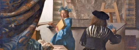 Vermeer. La Alegoría de la Pintura (1666). Detalle.