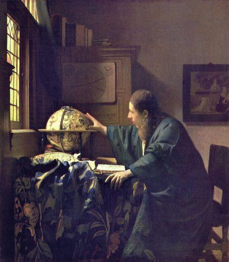 Vermeer. El astrónomo. 1668 (Museo del Louvre)