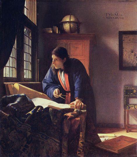 Vermeer. El geógrafo (1669). Museo Städel, Frankfurt.
