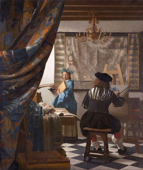 Vermeer. El arte de la pintura o La Alegoría de la pintura (1666). Kunsthistoriches Museum, Viena.