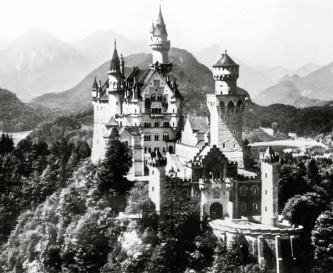 Castillo de Neuschwanstein, Alemania (National Archives and Records Administration, College Park, MD)