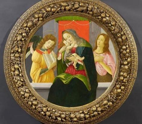 Sandro Botticelli. Virgen con niño, San Juan Bautista y un ángel (1445-1510)