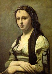 Camille Corot. La mujer de la perla (1870).