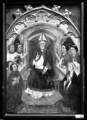 Pere Serra. San Pedro en cátedra (2ª mitad s. XIV). Procedente de la iglesia de Cubells