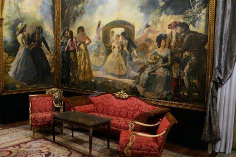 El salón principal del palacio. Foto: Samuel Aranda, The New York Times