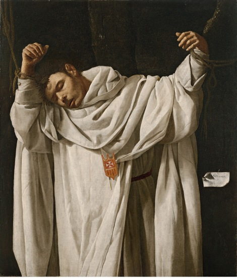 Francisco de Zurbarán, San Serapio, 1628 (Hartford, CT, Wadsworth Atheneum Museum of Art. The Ella Gallup Sumner and Mary Catlin Sumner Collection)