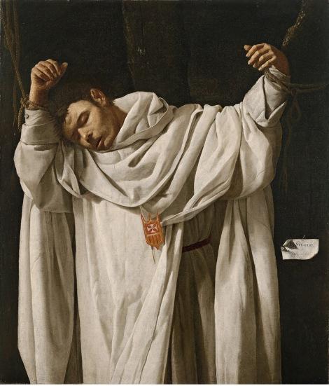 Francisco de Zurbarán, San Serapio, 1628 (Hartford, CT, Wadsworth Atheneum Museum of Art. The Ella Gallup Sumner and Mary Catlin Sumner Collection)
