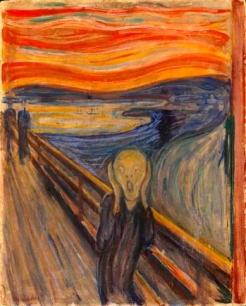 Edvard Munch, El Grito (1893). Nasjonalmuseet for kunst, arkitektur og design, Oslo.