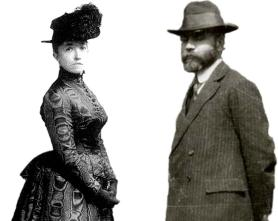 Isabella Stewart Gardner con Bernard Berenson, experto en arte (Foto: bostonglobe.com)