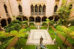 Museo Isabella Stewart Gardner, jardines interiores (Foto: traveler.es)